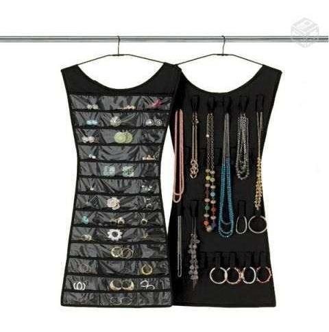 porta jóias, organizador de bijuteria, vestido para cabide.