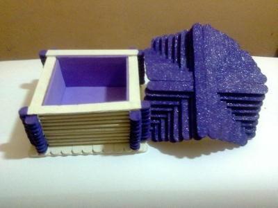 porta-jóias palito violeta cobalto cintilante
