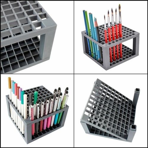 porta lapis pincel maquiagem suporte organizador 96 caneta