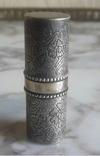 porta lapiz labial plata francesa punzon marcel rochas paris