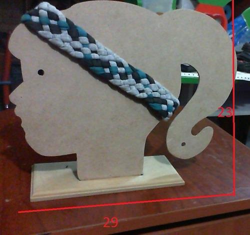 porta lazos, bandanas, turbantes con base biselada y apoyo
