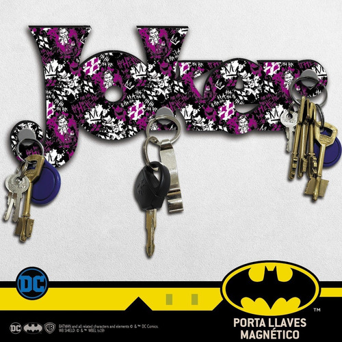 porta llaves c/imán dc comics joker guasón harley quinn