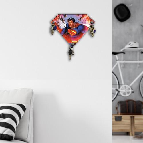 porta llaves c/imán dc comics superhéroe superman jim lee