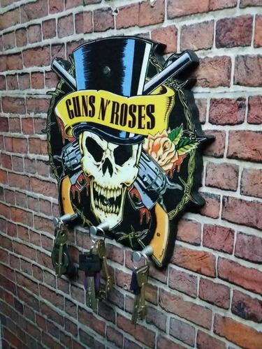 porta llaves de guns and roses.