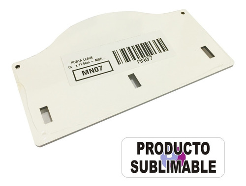 porta llaves sublimable mdf 3mm 18x11 cm pack 5 unidades