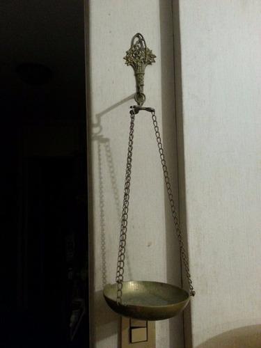 porta maceta bronce