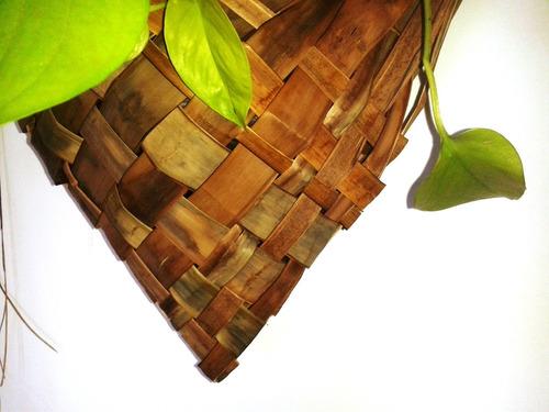 porta maceta de 14 cm cestería latinoamericana