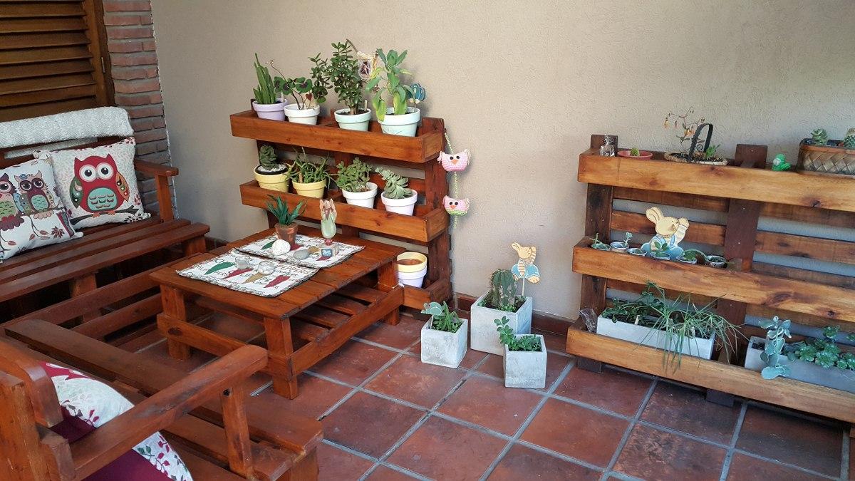 porta macetas con pallets reciclados jardin vertical