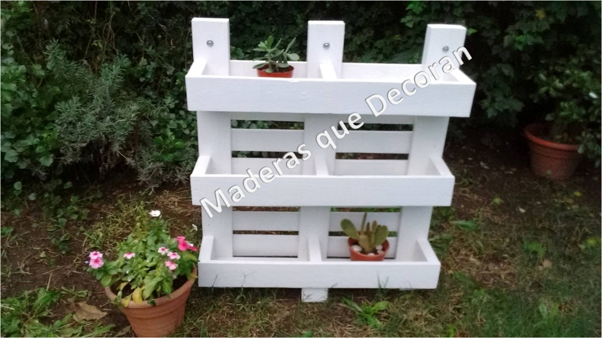 Macetas para jardin free good amazing cargando zoom with for Macetero vertical pallet
