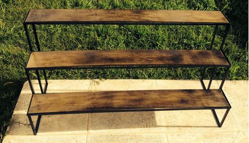 de hierro a medida tipo escalera con maderas