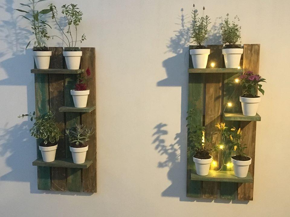 Porta Macetas Vertical Rustico Para Exterior E Interior - $ 1.200,00 ...
