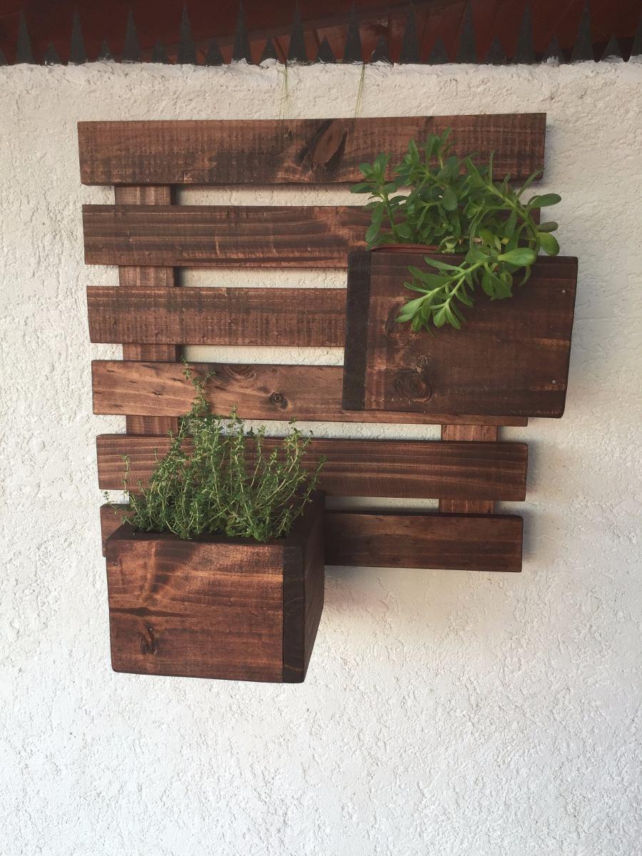 Porta maceteros de madera colgante 70x33 en - Maceteros de madera ...