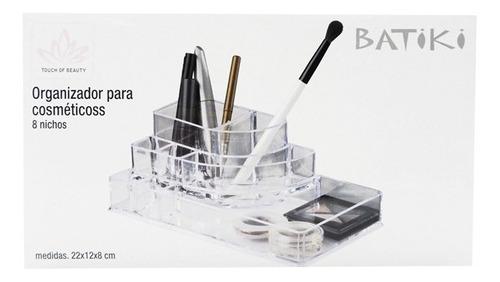 porta maquiagem organizador para cosmetico 8 nichos acrilico