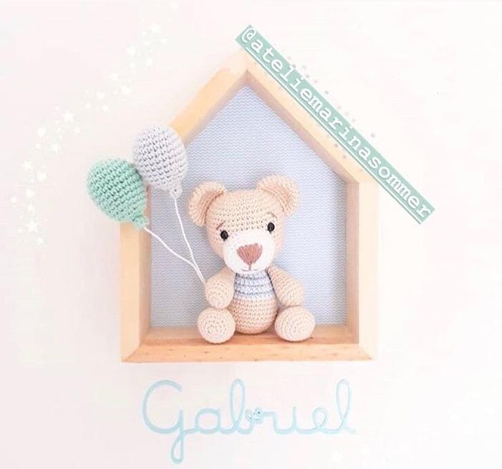 Enfeite Porta Maternidade Nuvem Com Boneca Amigurumi - R$ 229,00 ... | 657x703