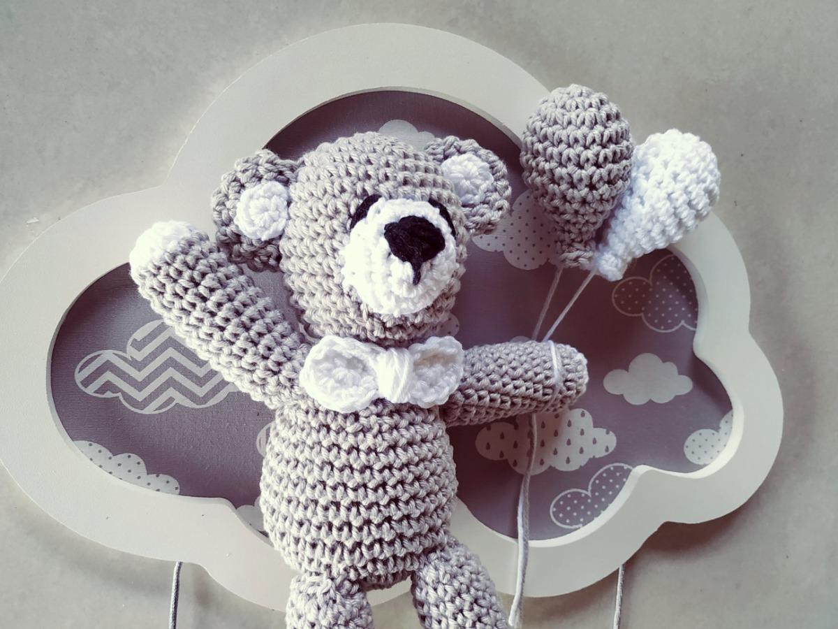 Urso aviador | Ursinho aviador, Urso de crochê, Receitas amigurumi | 900x1200