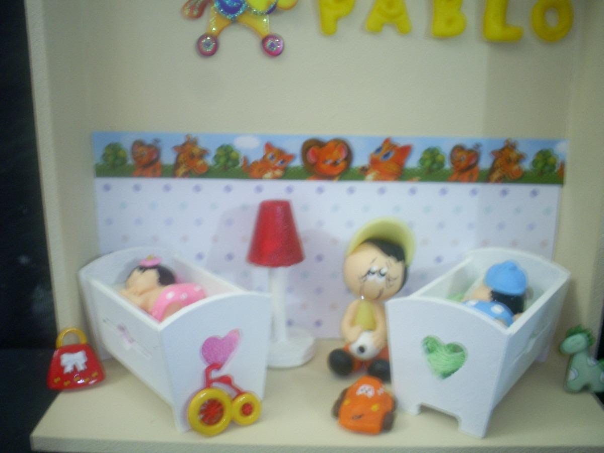 Porta Maternidade Quarto Mini P Gemeos Com Irm O Mais Velho R  ~ Quarto De Bebe E Irmão Mais Velho