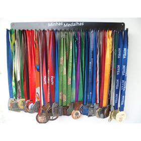 Porta-medalhas 30 Ganchos Até 90 Med Preto Aço Pm30a