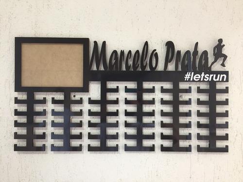 porta medalhas - corrida de rua personalizado - foto 15x21cm