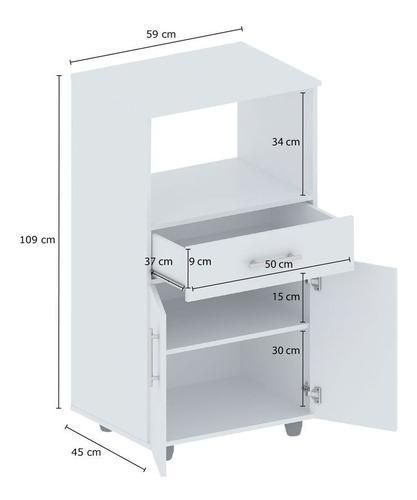 porta microondas y horno electrico melamina multiuso centro estant g11 envio sin cargo caba y gba