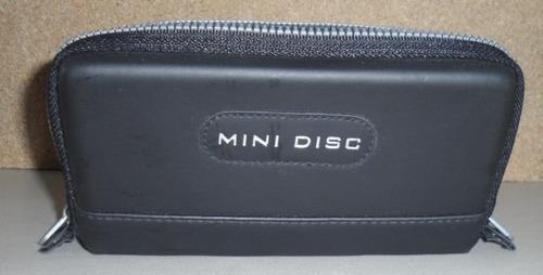 porta minidisc con 8 discos sony color y neige envío gratis
