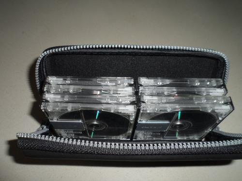 porta minidisc con 8 discos sony neige transparentes envío g