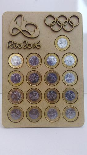 porta moedas das olimpíadas rio 2016 1pç