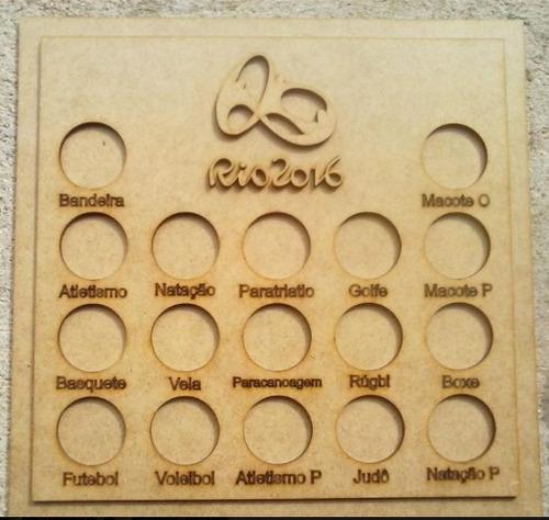 porta moedas em mdf coleção olimpíadas rio 2016