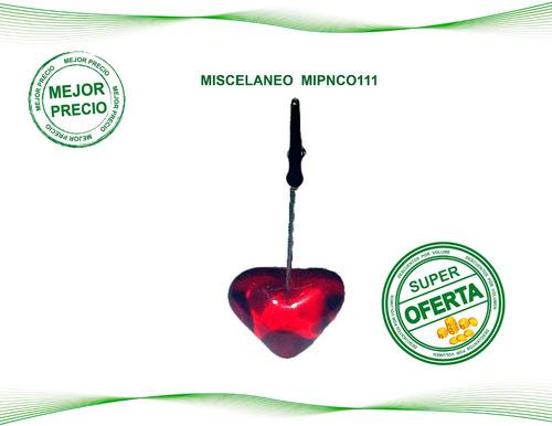 porta notas corazon material pop, estampados con su logo