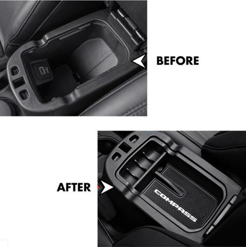porta objetos acessorios jeep compass organizador - oferta