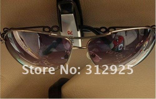 porta óculos veicular suporte fixa no quebra sol p/ óculos
