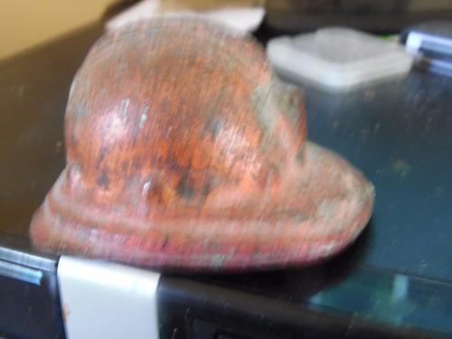 porta papel   casco  de  cobre