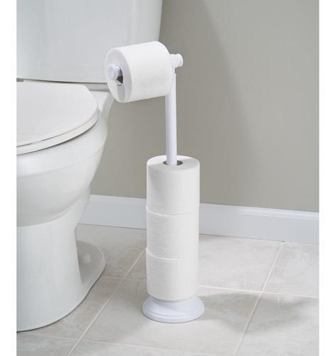 porta papel de baño blanco interdesign