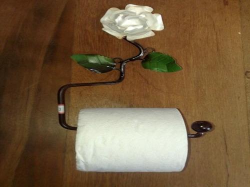porta papel higienico - artesanato em ferro