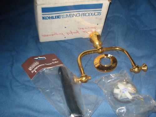porta papel higiénico kohler cromado oro