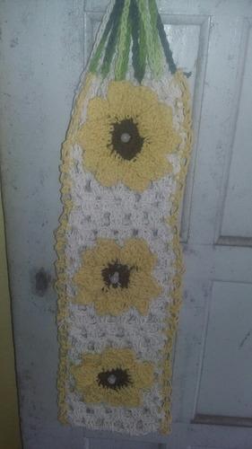 porta papel higiênico crochê /barbante