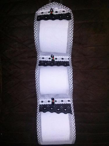 porta papel higiênico tecido