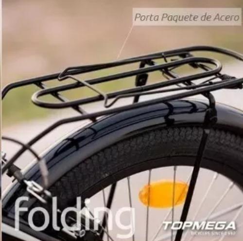 porta paquete bicicleta top mega