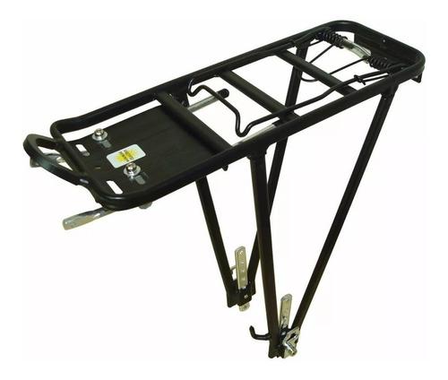 porta paquete mtb aluminio c/ varilla 25 kg ajustable negro