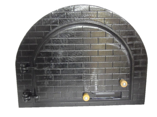 porta para forno modelo iglu / pizza / caipira em ferro