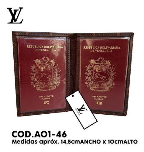 porta pasaporte 2 pasaporte louis vuitton