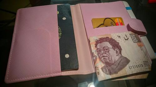 porta pasaporte - cartera portapasaporte para viajes
