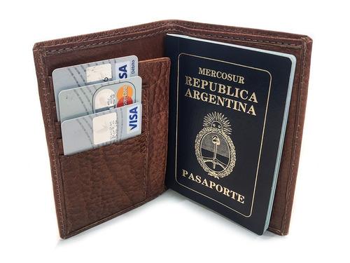 porta pasaporte cuero organizador porta documentos tarjetero viaje hombre mujer modelo 0098