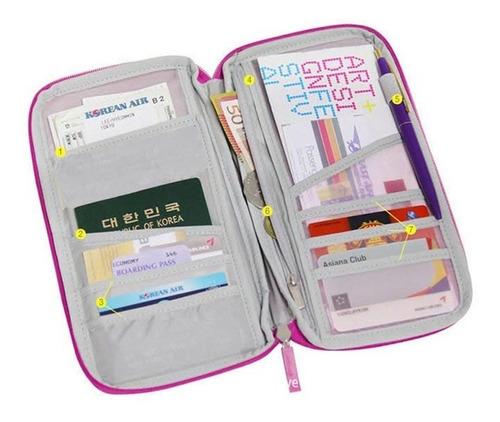 porta pasaporte documentos de viaje tarjetas envío gratis