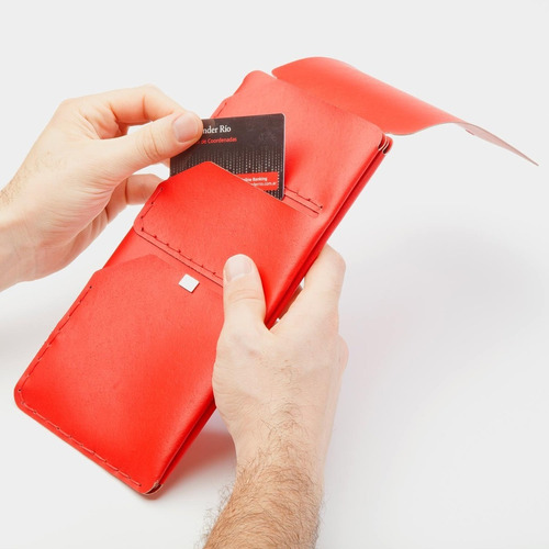 porta pasaportes rojo - barrancas de belgrano