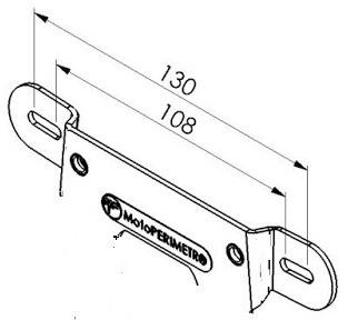 porta patente de aluminio universal motoperimetro®