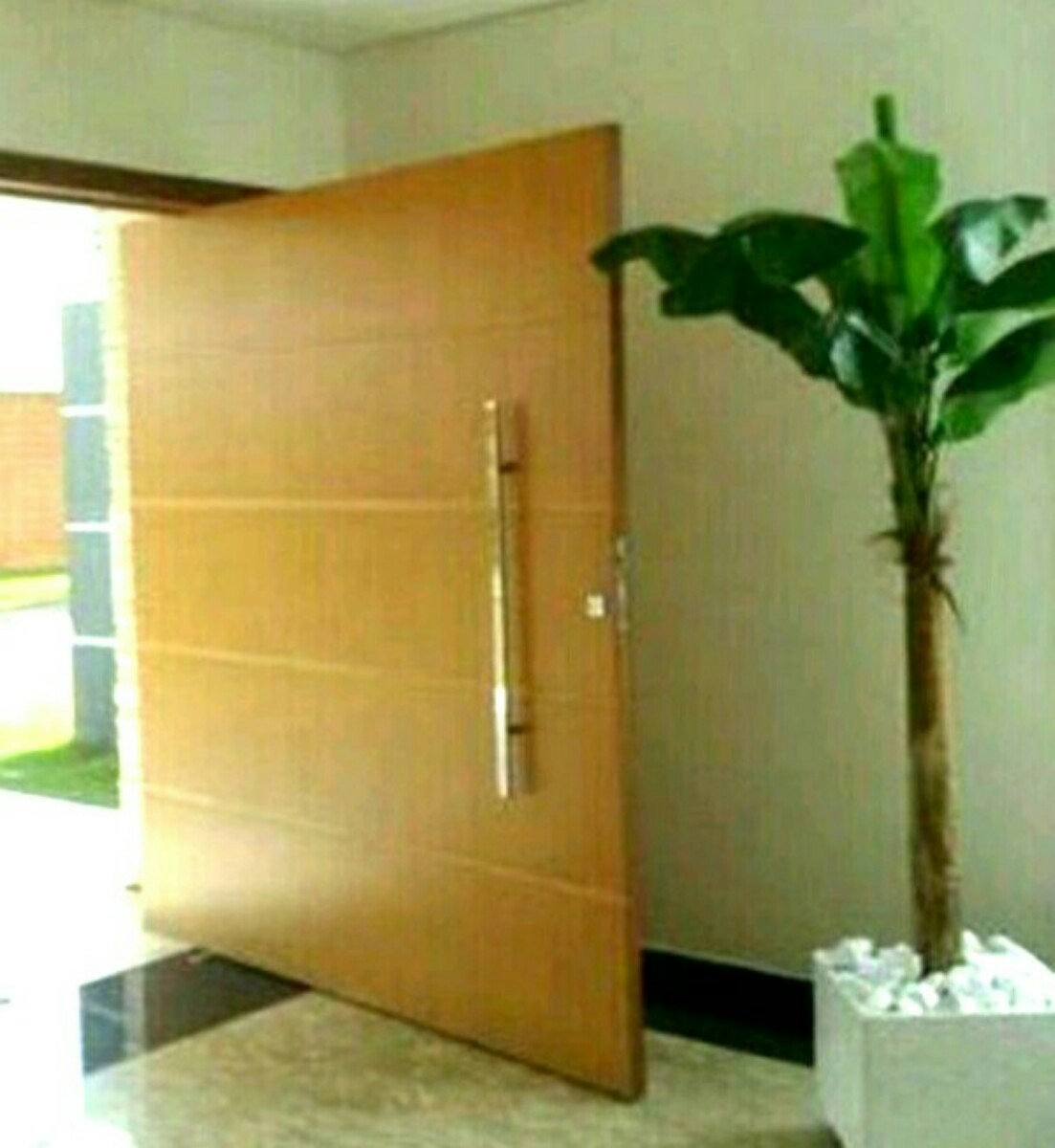 Porta Pivotante 110x210 Completa Batente Incluso Puxador