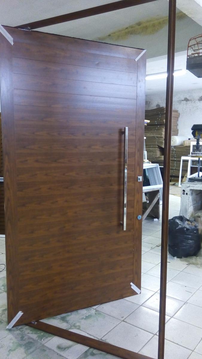 Porta Pivotante De Alum 237 Nio 1600x2500 Lisa Porta Completa