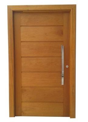 Porta pivotante de madeira maci a montada 2 14x1 28 r 1 for Puerta corrediza externa
