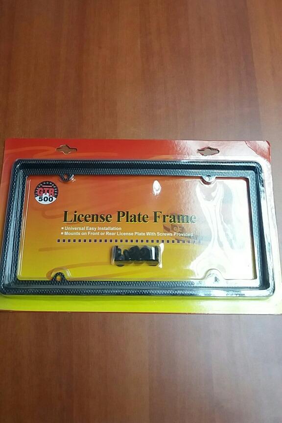 Porta Placa Marco Plástico Simulador Fibfa De Carbono - Bs. 32,50 en ...