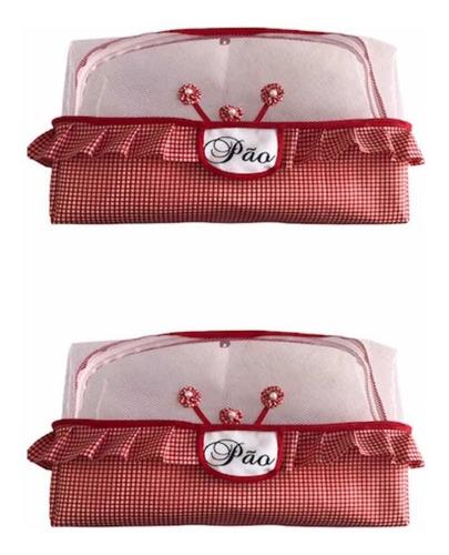 porta pão de forma de tecido - kit 2 peças